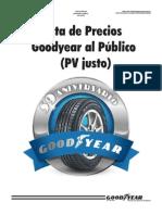 Lista de Precios Justos Goodyear - Notilogia