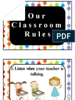 Classroom Rules and Behavior Expectations