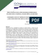 Mercantilização de Ações Solidárias - Gestao.org