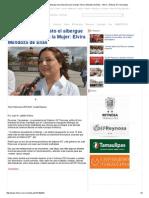 09-02-2015 en Dos Semanas Listo El Albergue de Protección Para La Mujer_ Elvira Mendoza de Elías