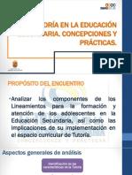 La Tutoría en La Educación Secundaria Plenaria