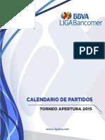 Calendario LIGA MX A15