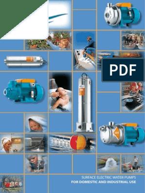 SURFACE ELECTRIC WATER PUMPS pdf | Pump | Mechanical Fan