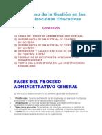 GESTIÓN DE LAS INSTITUCIONES EDUCATIVAS
