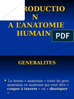 Introduction à l'Anatomie 2010-2011