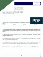 2 TRI - 1 Lista de Analise Combinatória
