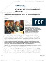 Redford's New Mexico film Program to Launch