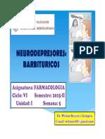 Farmacología - Neurodepresores (Barbitúricos)
