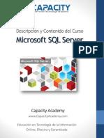 Brochure SQL - Capacity Academy