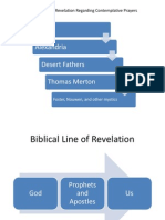 Biblical vs Contemplative Revelatory Progression