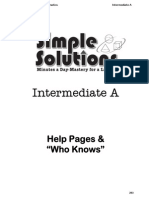 simple solutions intermediate level a help pages