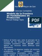 Modelo de La Frontera o Curva de Posibilidades de Producción (1)