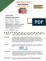 SHS Daily Bulletin 9-3-15