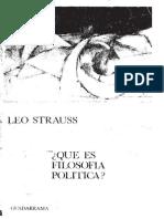 Leo-Strauss - Qué-es-filosofia-politica, Guadarrama, Madrid, 1970
