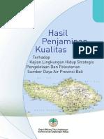 Hasil Penjaminan Kualitas Klhs Bali