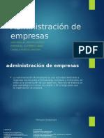 Administración de Empresas..