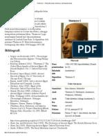 Thutmosis I - Wikipedia Bahasa Indonesia, Ensiklopedia Bebas