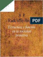 A. R. Radcliffe-Brown-Estructura y Función en La Sociedad Primitiva-Planeta de Agostini (1986)