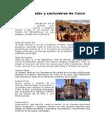Festividades y Costumbres de Cuzco