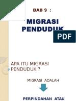 Bab 9 Migrasi Penduduk