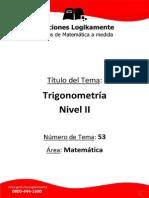 53 Trigonometría Nivel II (Logikamente)