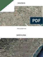 Planos de Valencia, Barcelona Toledo y Madrid