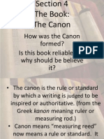 unit 1 section 4- the canon