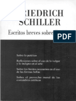 Schiller. Sobre El Provecho Moral de Las Costumbres Esteticas