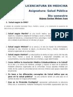 Salud Publica cuestionario