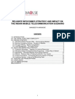 Reliance Infocomm's Strategy and Impact on The