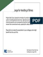 PSC Safety Range for Brine Handling