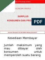 Pertemuan 5 B Surplus Konsumen Dan Produsen