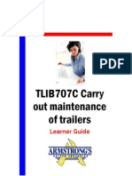 TLIB707C - Carry Out Maintenance of Trailers - Learner Guide