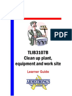 TLIB3107B - Clean Up Plant, Equipment and Work Site - Learner Guide