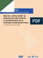 Capitulo 1 Qué es y cómo medir la pobreza de información y comunicación en el contexto latinoamericano