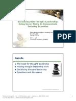 Socializing B2B Thought Leadership