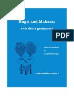 Bugis and Makasar Grammars