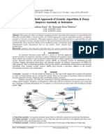A Study on A Hybrid Approach of Genetic Algorithm & Fuzzy To Improve Anomaly or Intrusion
