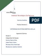 determinación potenciometrica del pH