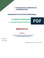 Ejercicio 7 de Economía Empresarial