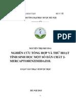 Nghiên Cứu Tổng Hợp Và Thử Tác Dụng Hoạt Tính Sinh Học Một Số Dẫn Chất 2 - Mercaptobenzimidazol