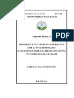 Tổng Hợp Và Thử Tác Dụng Sinh Học Của Một Số Acid Hydroxamic Mang Khung 5-Aryl-1,3,4-Thiadiazol Hướng Ức Chế Histon Deacetylase