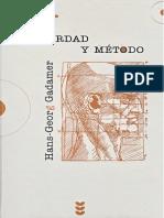 GADAMER, Verdad y Método I. DESBLOQUEADO y con OCR t