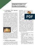 Tema 01 - Introducción a la Teoria Literaria