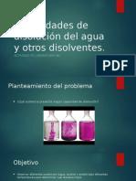 Capacidades de Disolución Del Agua y Otros Disolventes