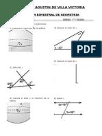 Examen Bimestral de Geometria Sexto Grado