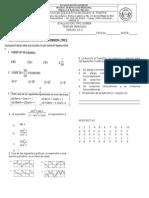 prueba de matematicas