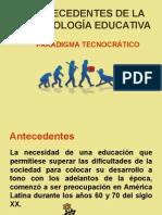Antecedentes de la Tecnología Educativa