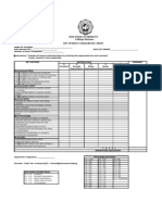 OJT Student Evaluation Sheet (Version 1)