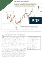 S&P Futures 3 March 10 Evening